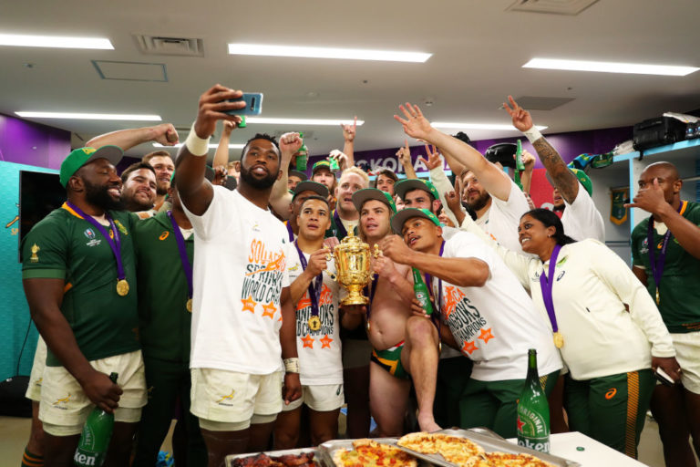 【ラグビー】 南アフリカ代表のデクラーク 優勝した勢いで・・・・www