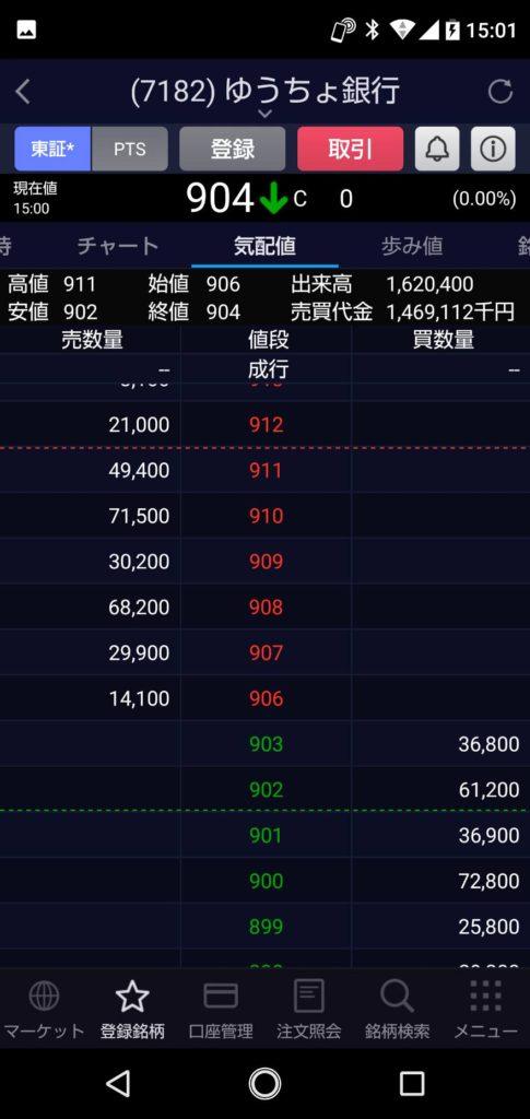 【ゆうちょ銀行】2021年 1月 19日 株で100万円を500万円になるまで頑張る