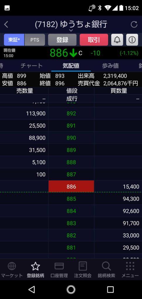 【ゆうちょ銀行】2021年 1月 22日 株で100万円を500万円になるまで頑張る