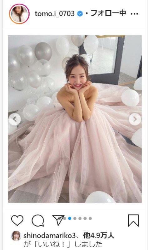 【AKB】板野友美、家族のみで挙式 幸せいっぱい純白ドレス「また着たいなぁ」