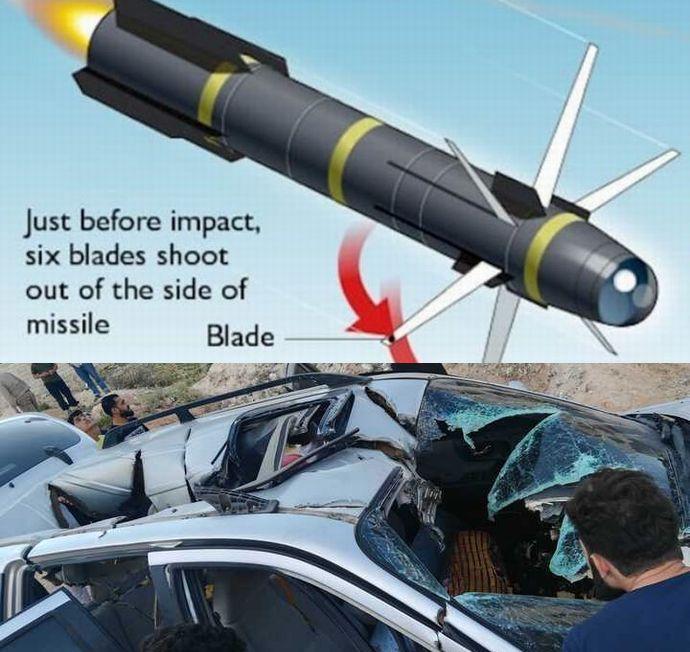 【アフガニスタン】米軍、IS勢力への攻撃に「忍者爆弾」使用・・・ミサイル着弾寸前に刃が放射状に突出し、標的を切り刻む
